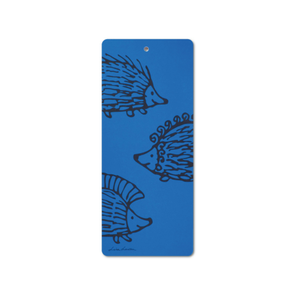 Lisa Larson|刺蝟三兄弟白樺木砧板/餐墊 (藍)