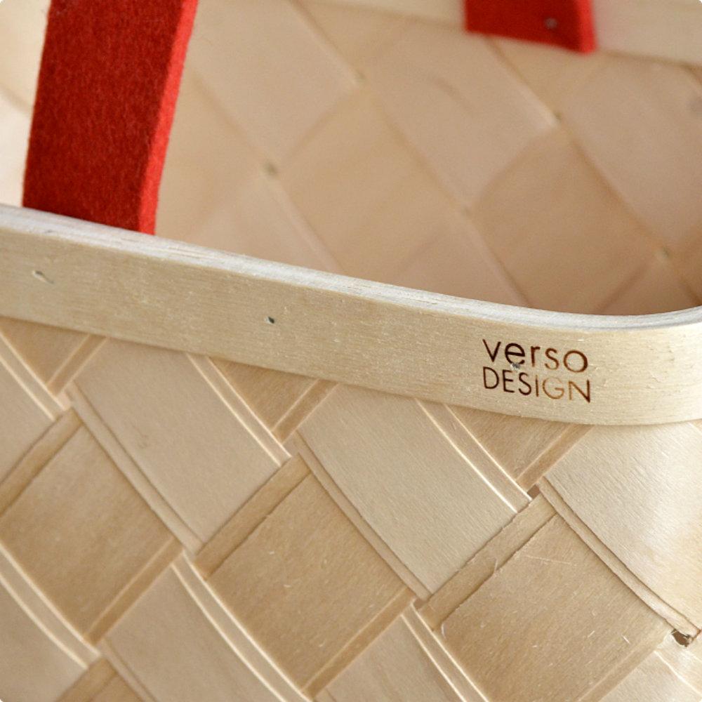 Verso Design|白樺木麵包籃 (紅羊毛氈把)