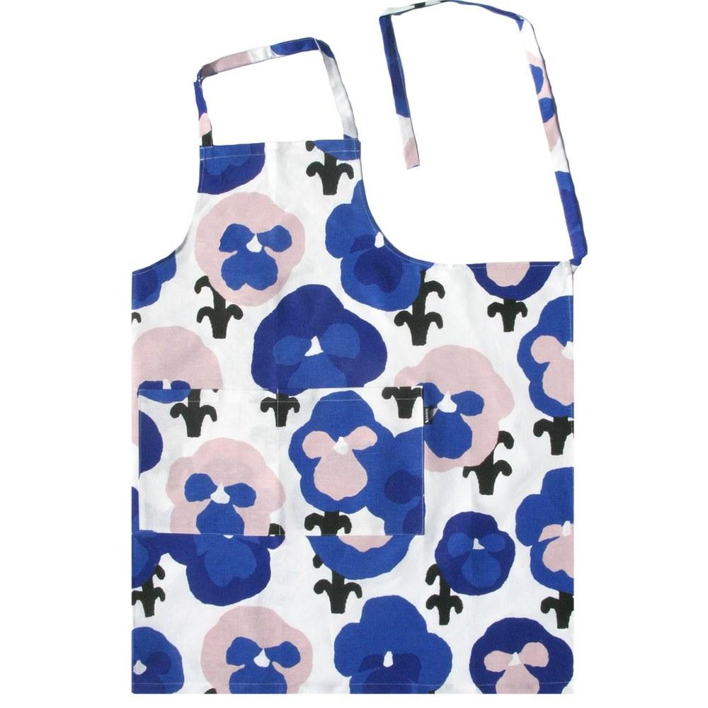 Kauniste|棉麻圍裙 (紫色三色堇)