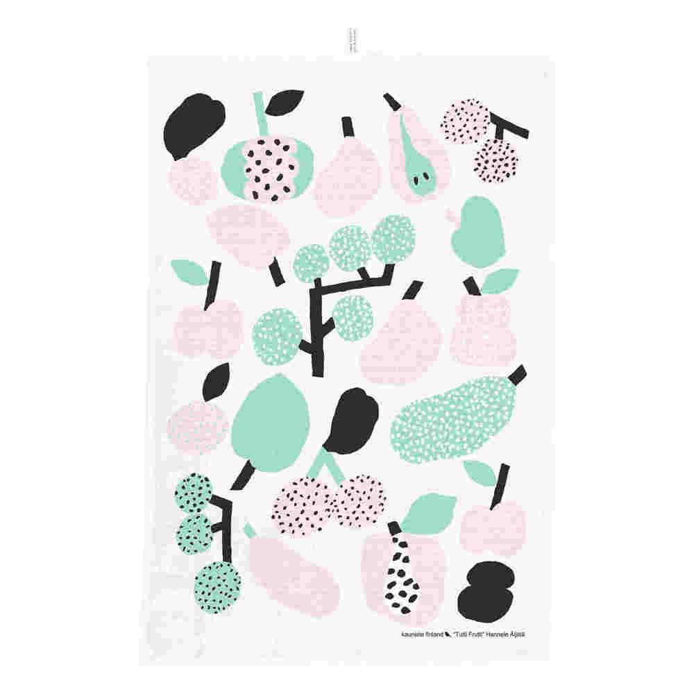 Kauniste|棉麻擦巾 (薄荷綠果香樂園)