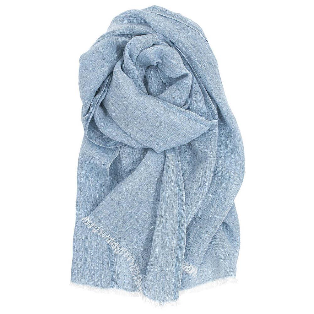 Lapuan Kankurit|HALAUS亞麻薄圍巾 (灰藍)