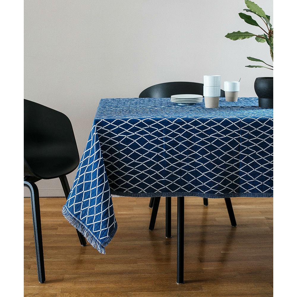 Lapuan Kankurit|ESKIMO棉麻薄毯/桌巾 (深藍)