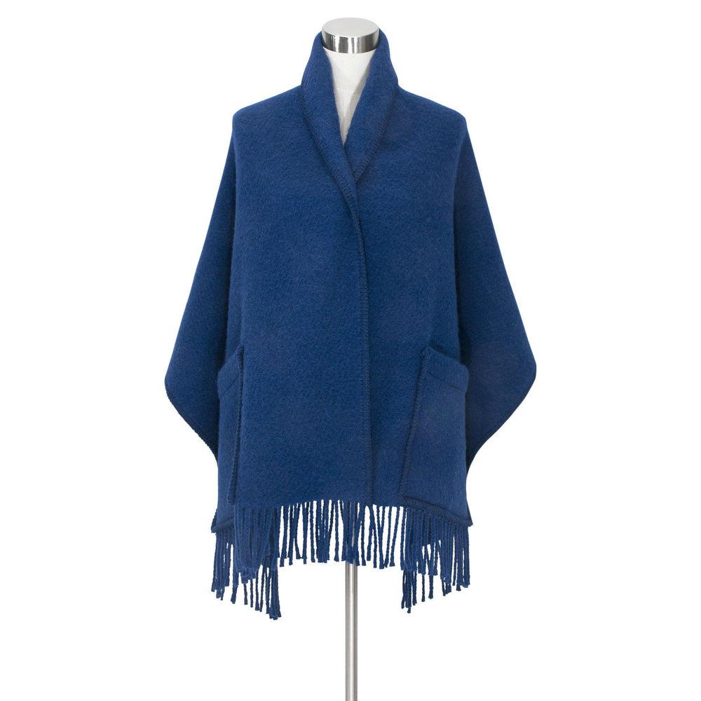 Lapuan Kankurit UNI羊毛口袋披肩 (寶藍)