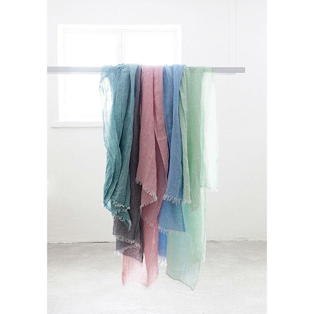 Lapuan Kankurit|HALAUS亞麻薄圍巾 (玫瑰粉)