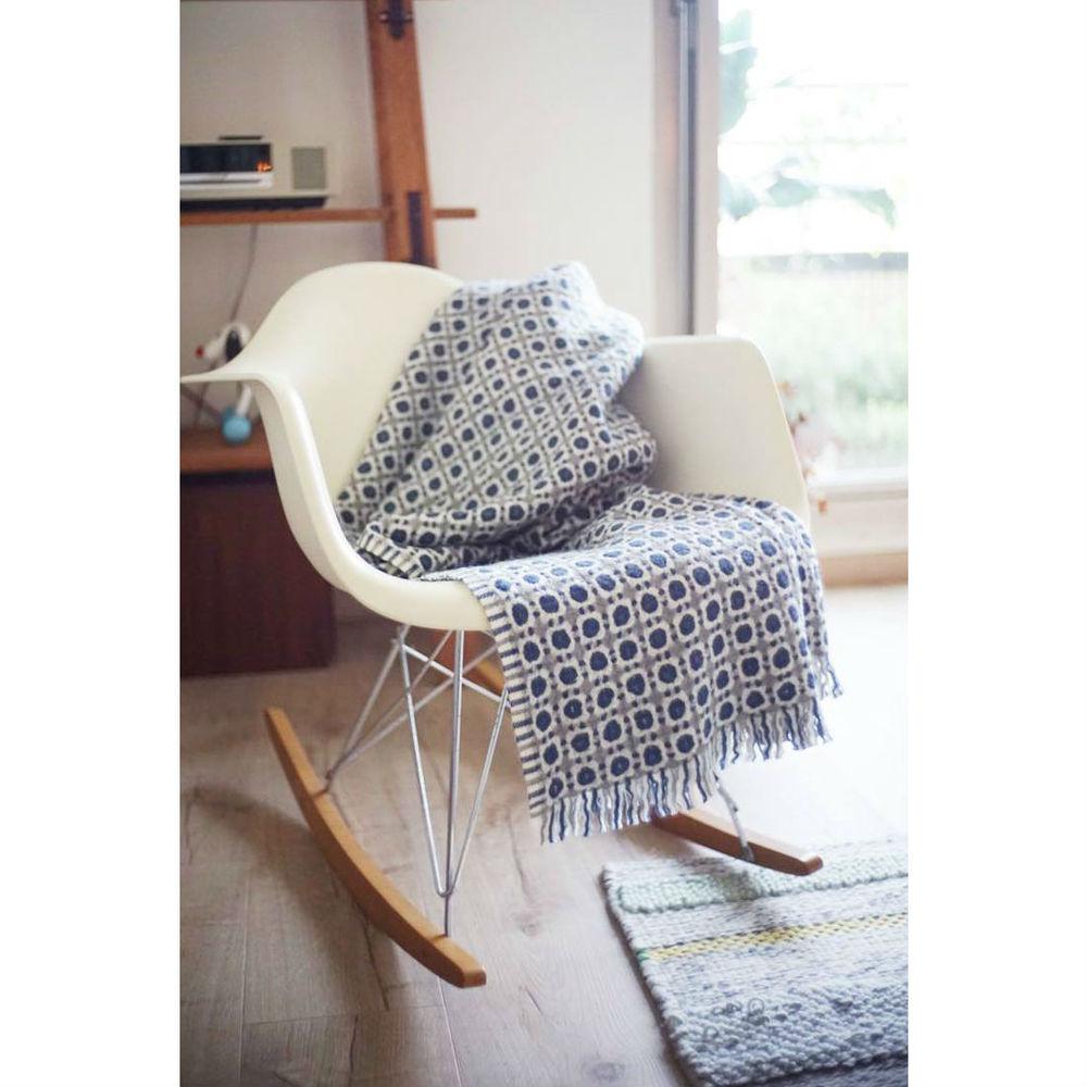 Lapuan Kankurit|Corona羊毛毯 (深藍灰)