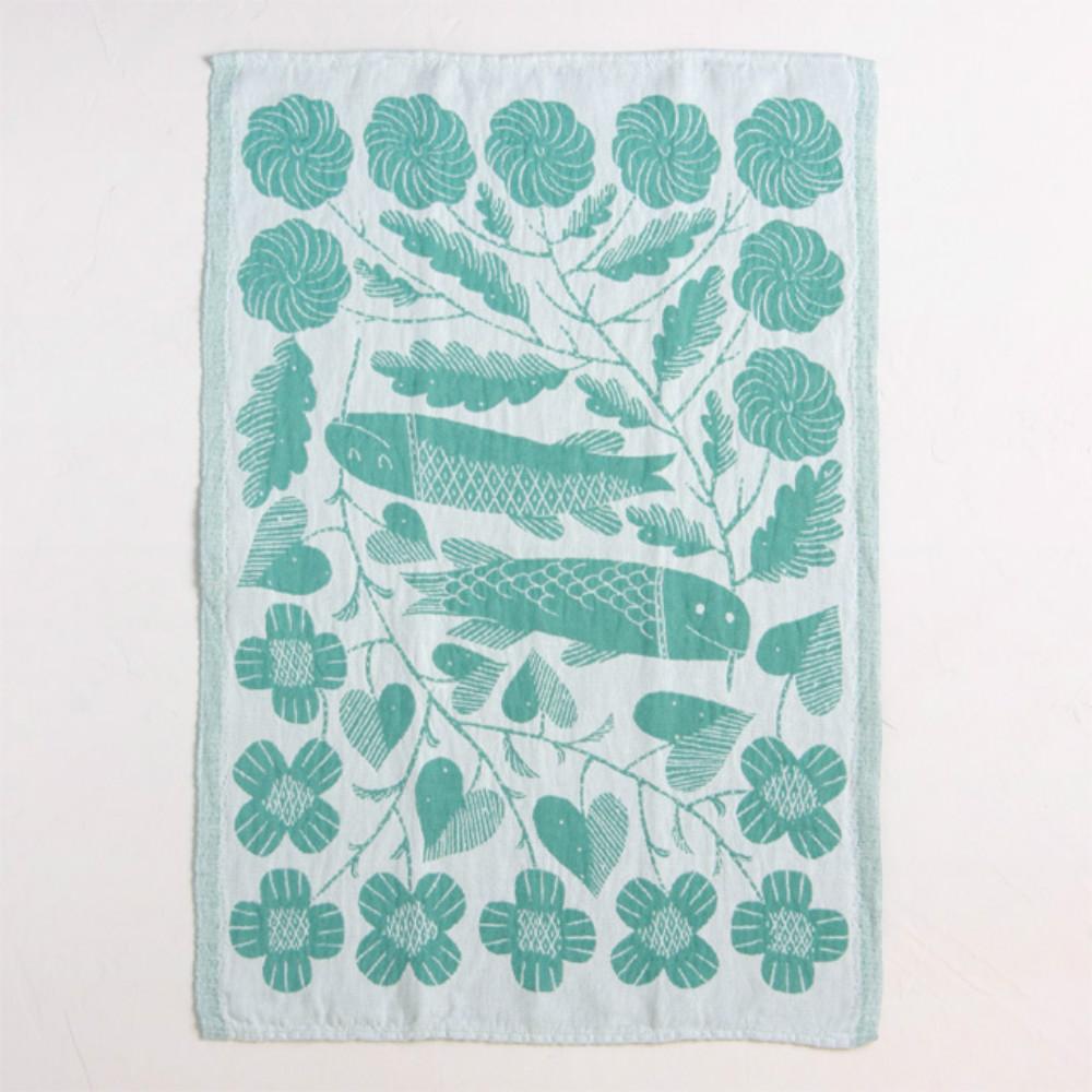 Lapuan Kankurit 鹿兒島睦鯉魚萬用擦巾 (水藍)
