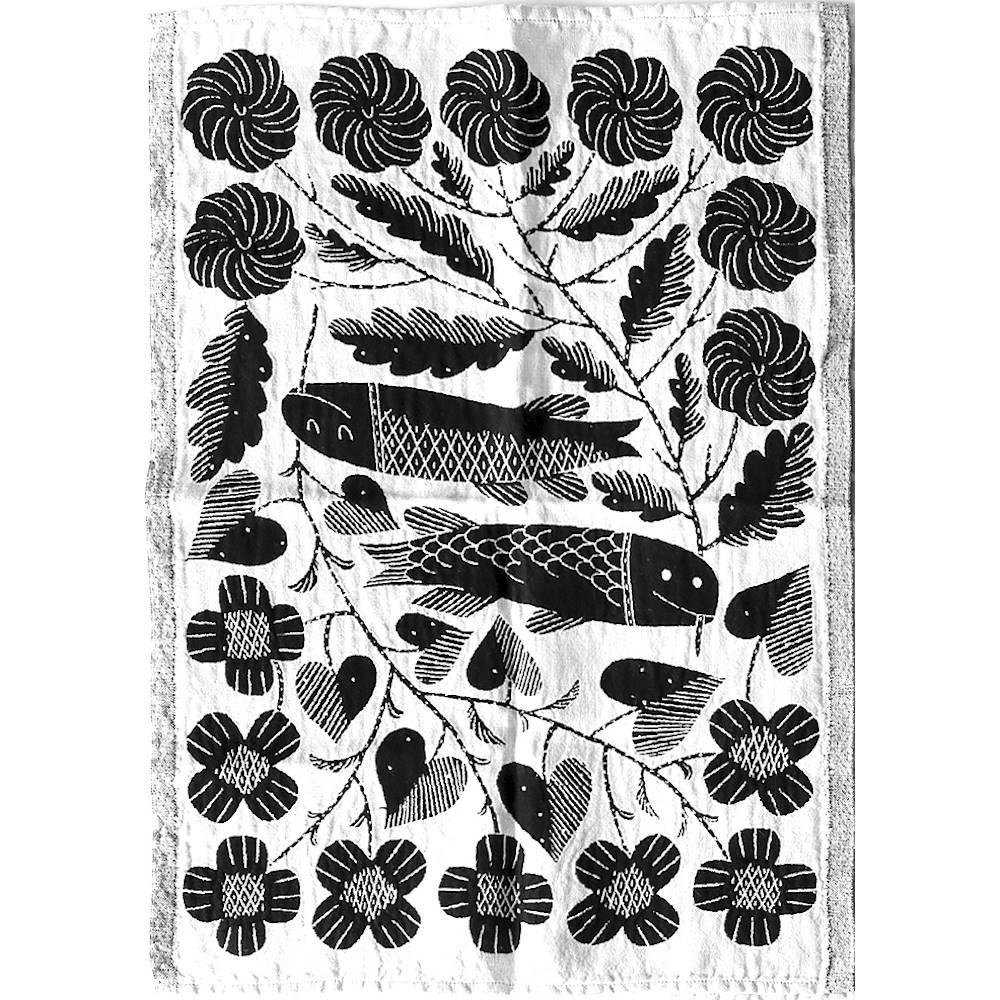 Lapuan Kankurit 鹿兒島睦鯉魚萬用擦巾 (黑色)
