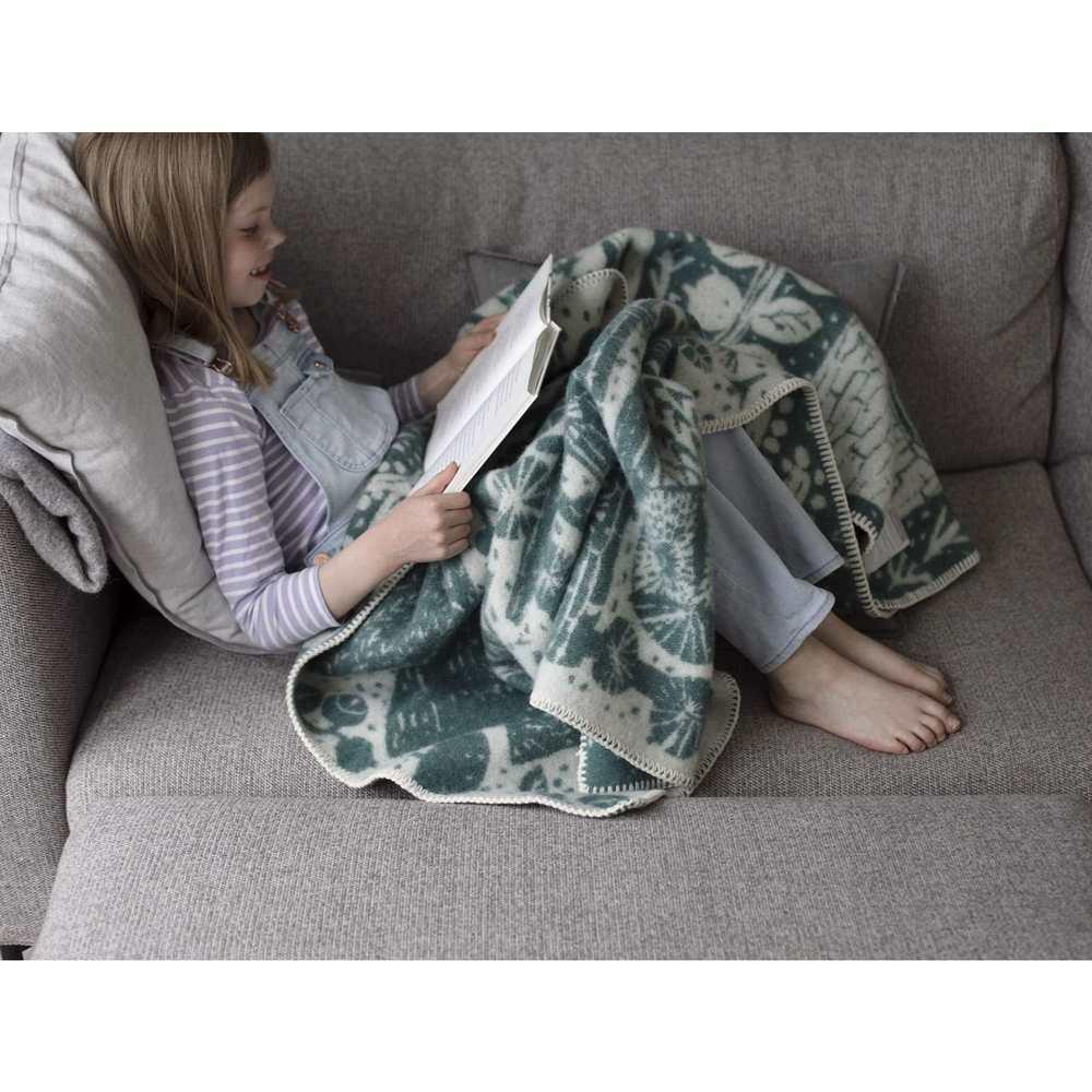 Lapuan Kankurit|MATTI PIKKUJÄMSÄ合作款羊毛毯 (森林綠)