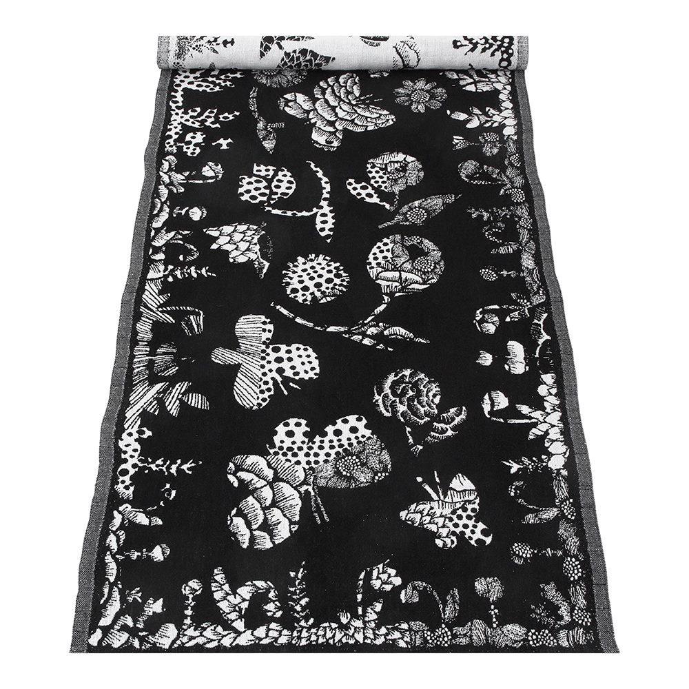 Lapuan Kankurit|AAMOS棉麻長桌巾 (黑)