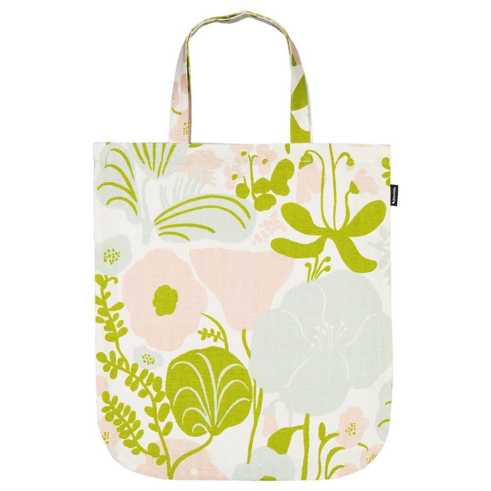 Kauniste|棉麻布包 (夏日的秘密基地粉綠)
