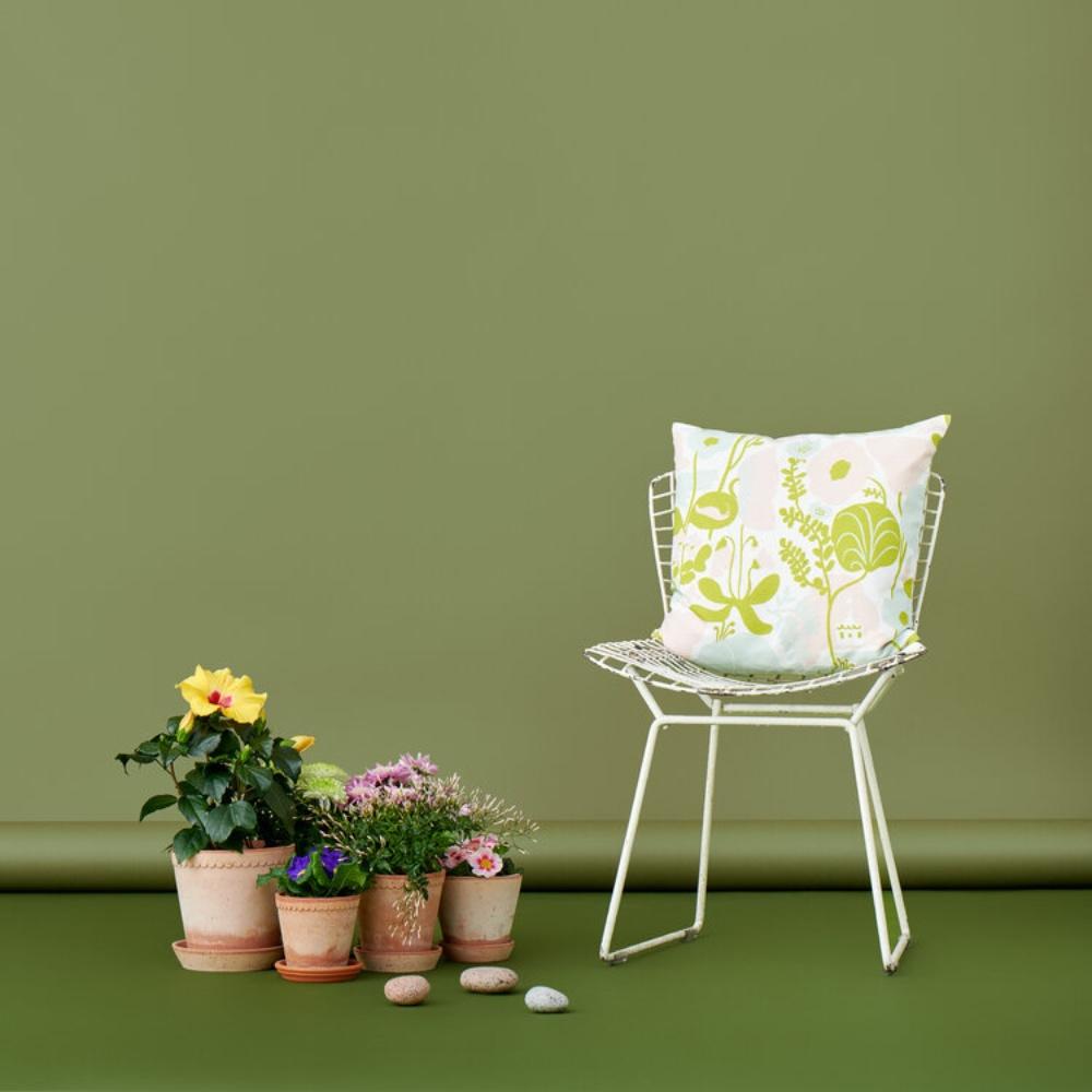 Kauniste 棉麻抱枕套 (夏日的秘密基地粉綠)