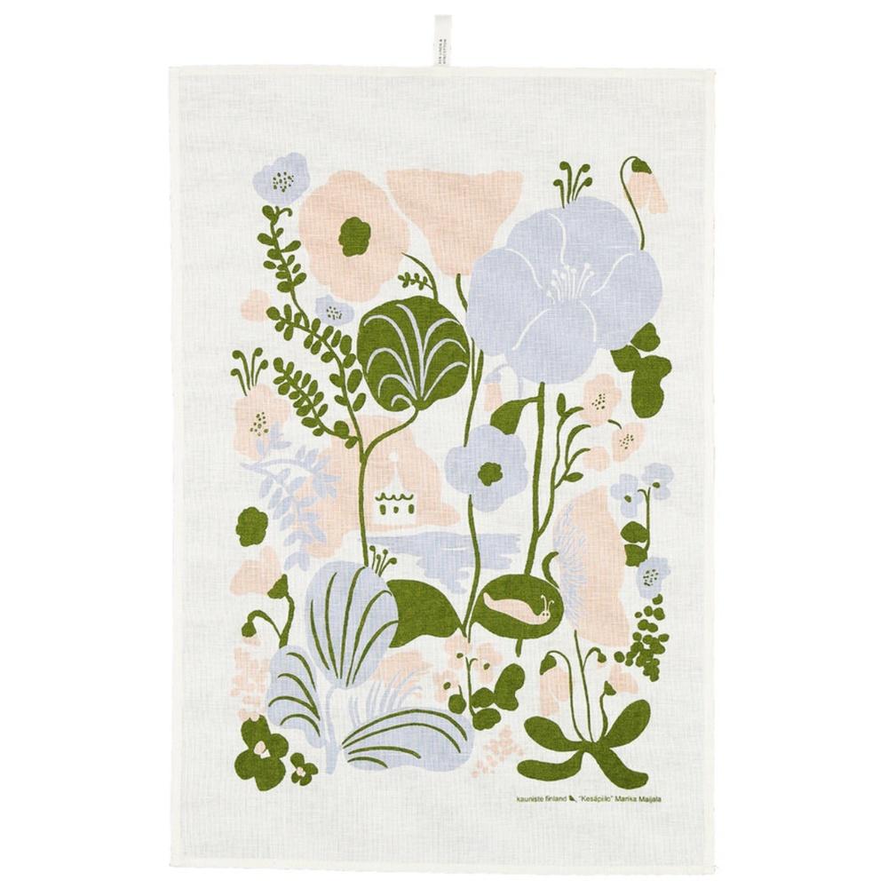 Kauniste|棉麻擦巾 (夏日的秘密基地粉藍)