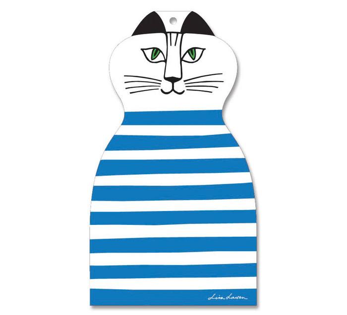 (複製)Lisa Larson|Mimi貓造型白樺木砧板/餐墊 (紅條紋)