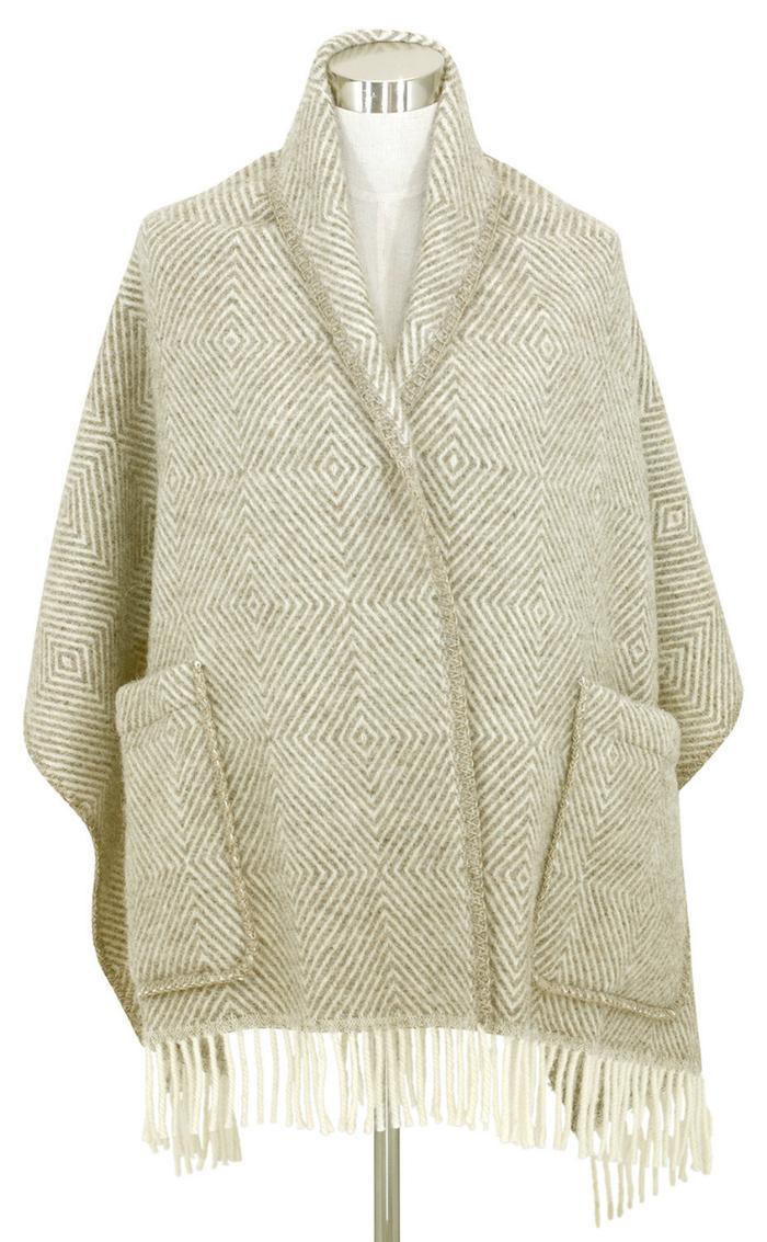 (複製)Lapuan Kankurit|MARIA羊毛口袋披肩 (淺灰條紋)