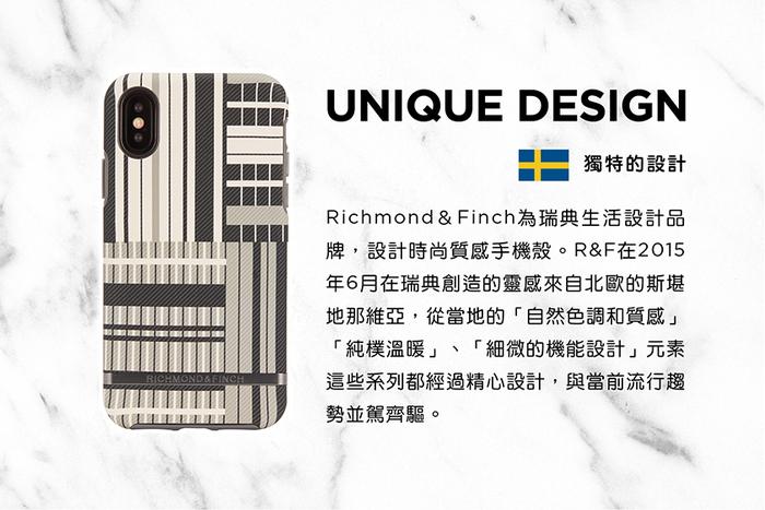 Richmond & Finch│iPhone X/XS鉑金條紋