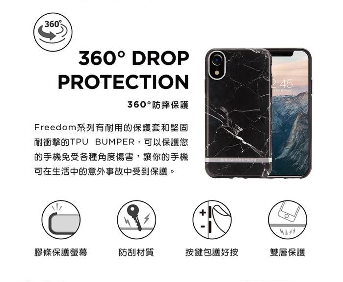(複製)Richmond & Finch│iPhone XS MAX大理石粉 玫瑰金線框手機殼
