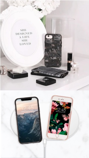 (複製)Richmond & Finch│iPhone XS MAX大理石黑 銀線框手機殼