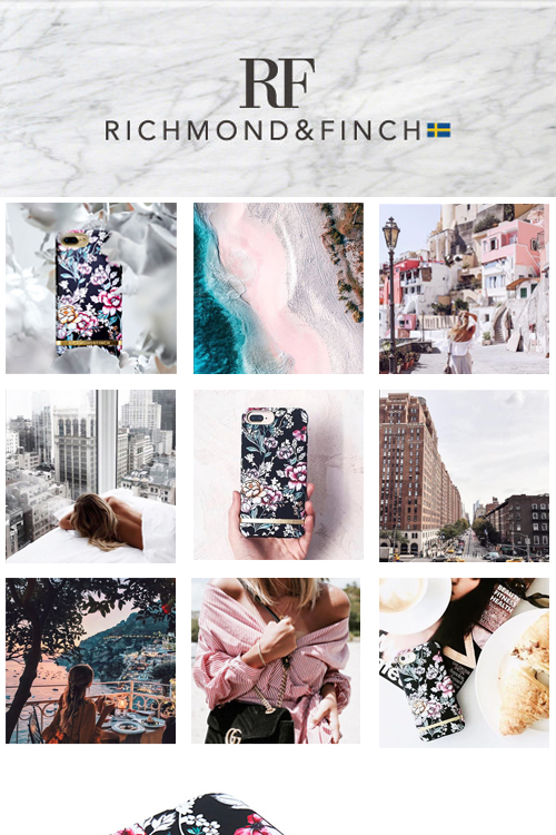 (複製)Richmond & Finch│iPhone X/XS千鳥格花紋金線框手機殼