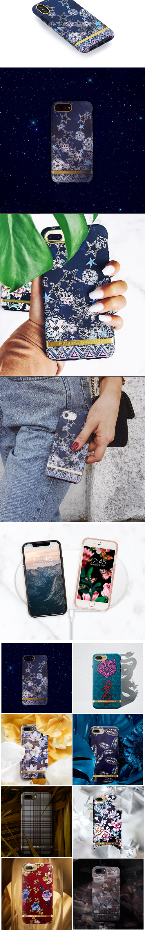 (複製)Richmond & Finch│iPhone X/XS叢林美洲豹金線框手機殼
