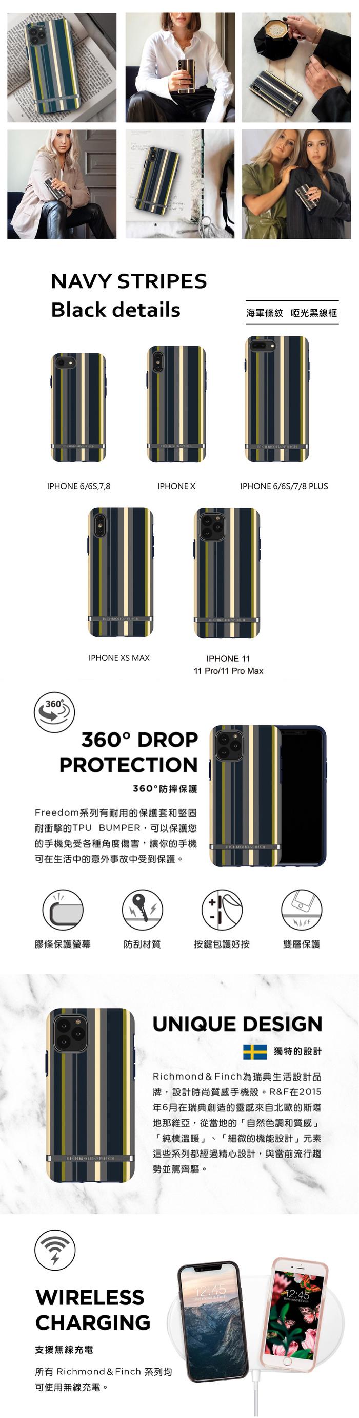 (複製)(複製)Richmond & Finch│iPhone 6/7/8(4.7吋)盛開牡丹 金線框手機殼