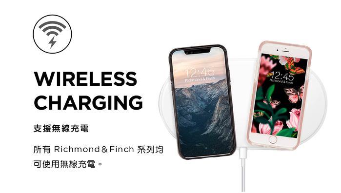 Richmond & Finch│iPhone 11 粉色大理石紋櫻花 玫瑰金線框手機殼