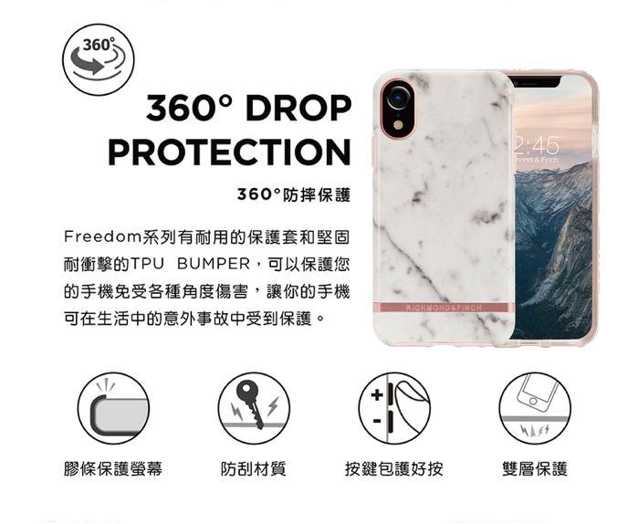 (複製)Richmond & Finch│iPhone 11  大理石粉 玫瑰金線框手機殼