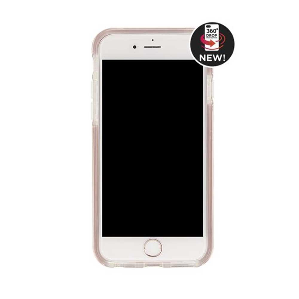 Richmond & Finch│iPhone  7 PLUS/8 PLUS (5.5吋) 大理石紋玫瑰金線框手機殼 - 玫瑰粉