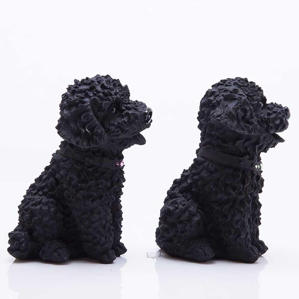 土山炭製作所│紀州備長炭寵物裝飾 -貴賓犬一對(M)