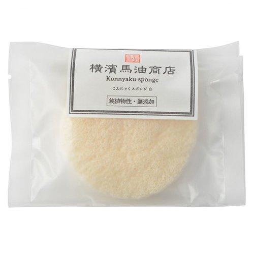橫濱馬油商店│橫濱馬油天然の去角質蒟蒻海綿 - 雲朵白