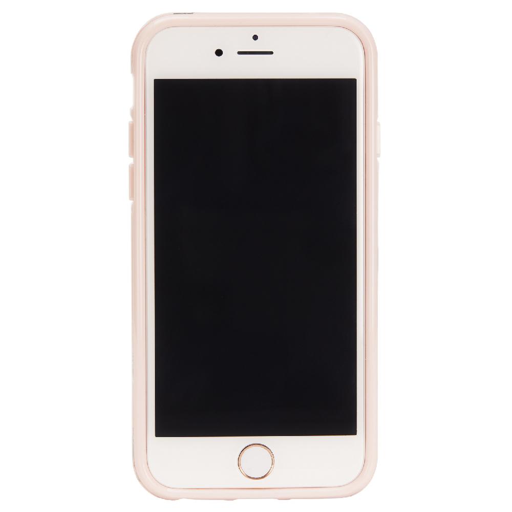 Richmond & Finch│iPhone 6/7/8(4.7吋)繽紛羽毛玫瑰金線框手機殼