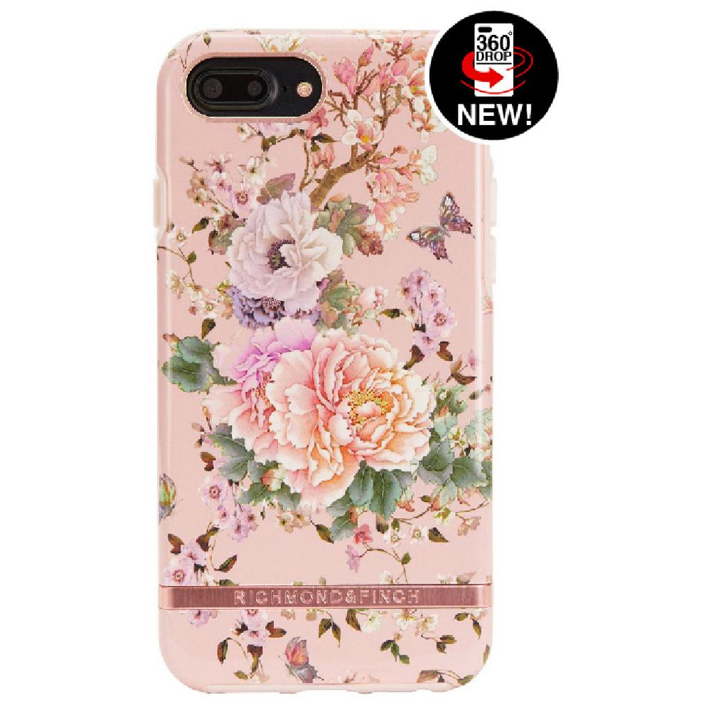 Richmond & Finch│iPhone 6 PLUS/7 PLUS/8 PLUS (5.5吋)浪漫牡丹玫瑰金線框手機殼