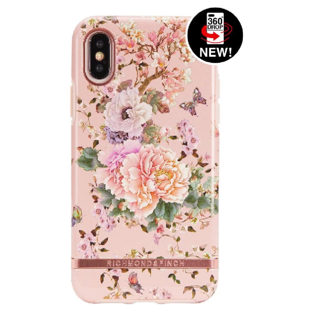 Richmond & Finch│iPhone X浪漫牡丹玫瑰金線框手機殼