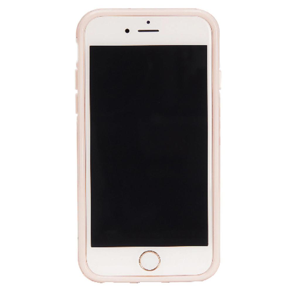 Richmond & Finch│iPhone 6/7/8(4.7吋)粉紅火鶴鳥玫瑰金線框手機殼