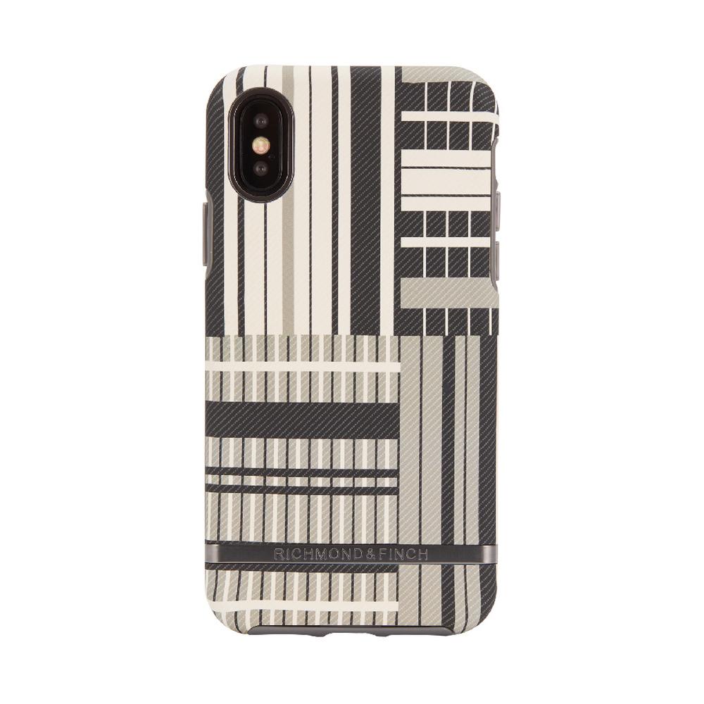 Richmond & Finch│iPhone X/XS鉑金條紋啞光黑框手機殼