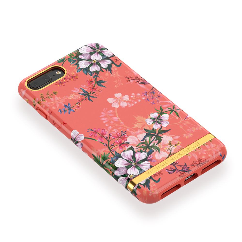 Richmond & Finch│iPhone 6 PLUS/7 PLUS/8 PLUS (5.5吋)夢幻珊瑚花 金線框手機殼