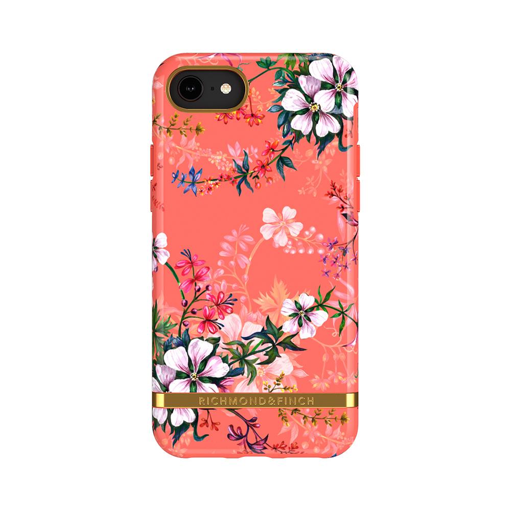 Richmond & Finch│iPhone 6/7/8(4.7吋)夢幻珊瑚花 金線框手機殼