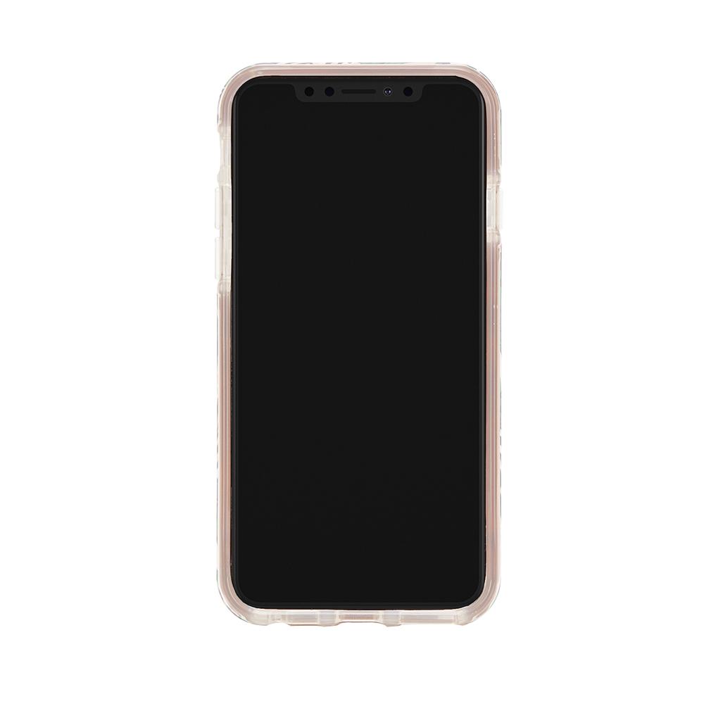 Richmond & Finch│iPhone 6/7/8(4.7吋)白色大理石紋熱帶棕梠 金線框手機殼