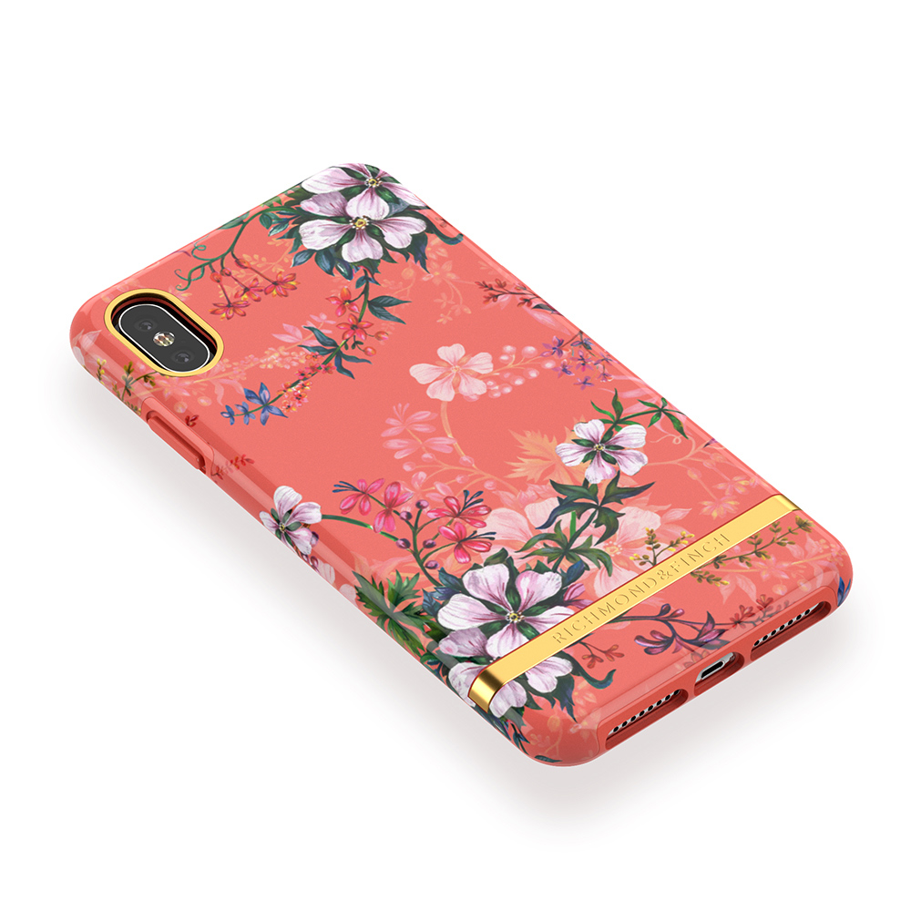 Richmond & Finch│iPhone XS MAX夢幻珊瑚花 金線框手機殼