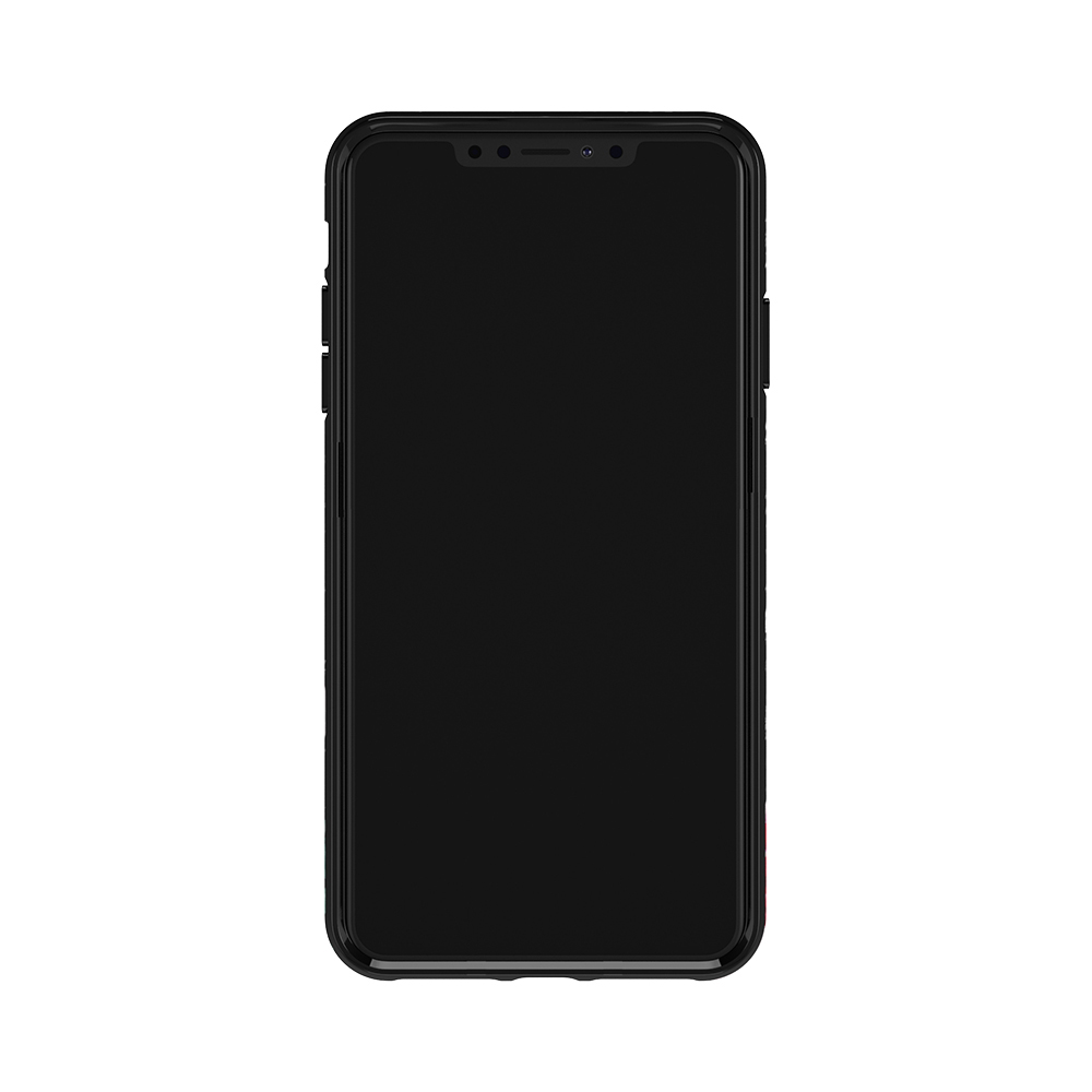 Richmond & Finch│iPhone X/XS黑色大理石紋茶花 金線框手機殼