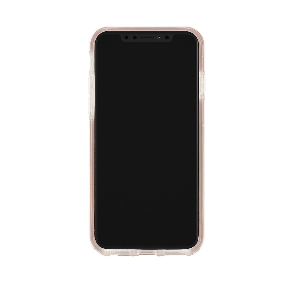 Richmond & Finch│iPhone X/XS粉色大理石紋櫻花 玫瑰金線框手機殼