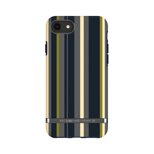 Richmond & Finch│iPhone 6/7/8(4.7吋)海軍條紋 啞光黑線框手機殼