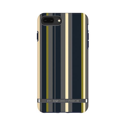 Richmond & Finch│iPhone 6 PLUS/7 PLUS/8 PLUS (5.5吋)海軍條紋 啞光黑線框手機殼