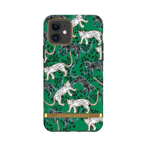 Richmond & Finch│iPhone 11  叢林美洲豹 金線框手機殼