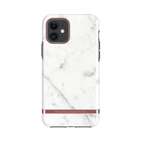 Richmond & Finch│iPhone 11  大理石白 玫瑰金線框手機殼