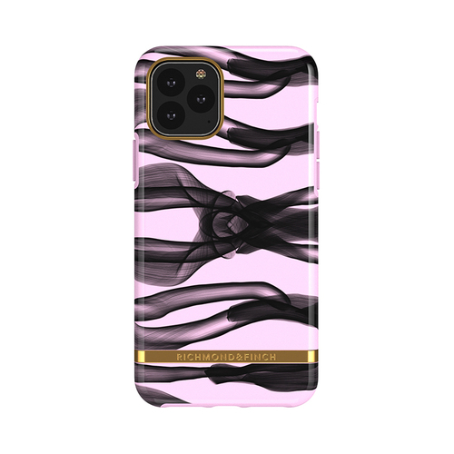 Richmond & Finch│iPhone 11 PRO 粉紅結 金線框手機殼