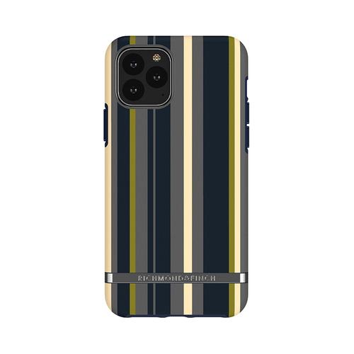 Richmond & Finch│iPhone 11 PRO 海軍條紋 啞光黑線框手機殼