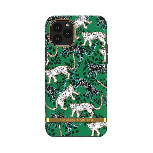 Richmond & Finch│iPhone 11 PRO  叢林美洲豹 金線框手機殼