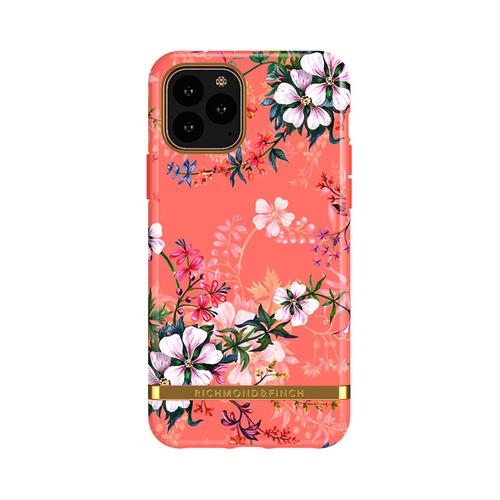 Richmond & Finch│iPhone 11 PRO MAX夢幻珊瑚花 金線框手機殼