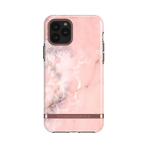 Richmond & Finch│iPhone 11 PRO MAX大理石粉 玫瑰金線框手機殼