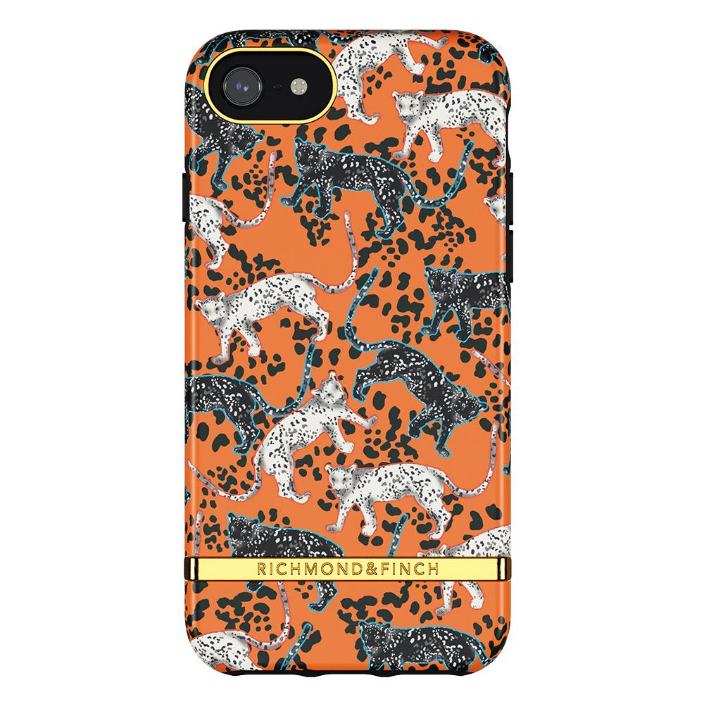 Richmond & Finch|iPhone 6/7/8/SE(4.7吋)叢林美洲橘豹 金線框手機殼